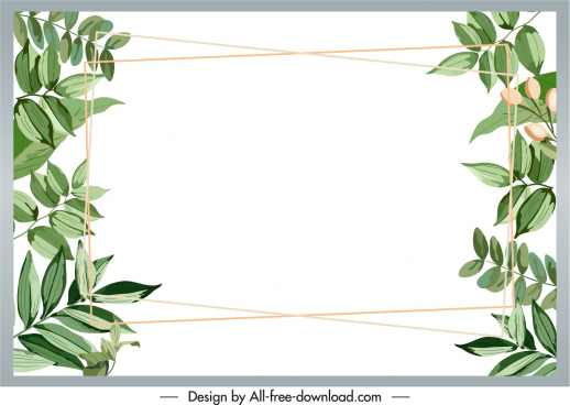 natural leaves text box background bright elegant classic
