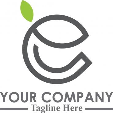 natural logo letter e line