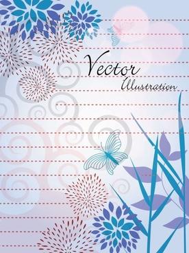 natural vector illustration line draft 03 vector