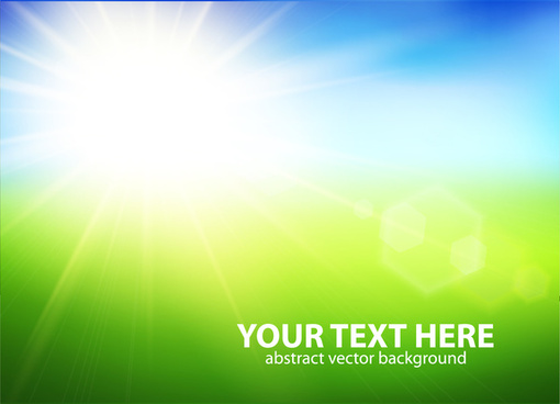 natural with sun background vector