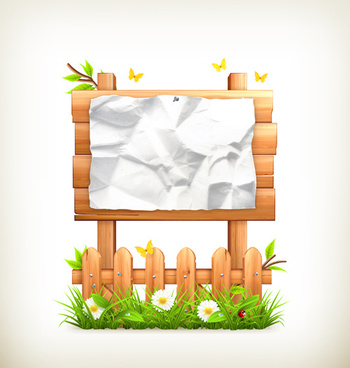 nature and wooden board background