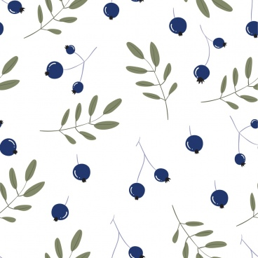 nature background fruit leaves icons repeating design