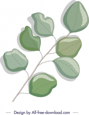 nature background green leaf branch sketch