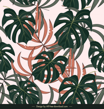 nature background needle leaves decor classic flat design
