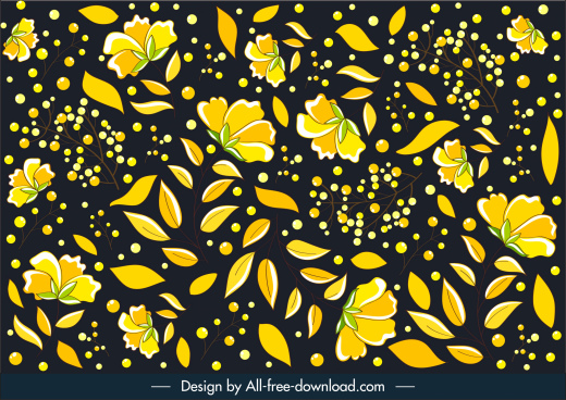 nature background template petals leaves decor dynamic contrast