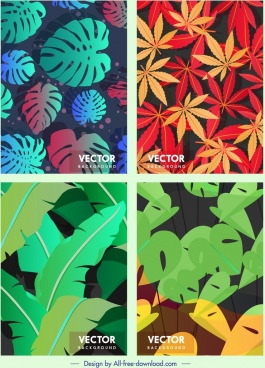 nature background templates colorful leaves decor