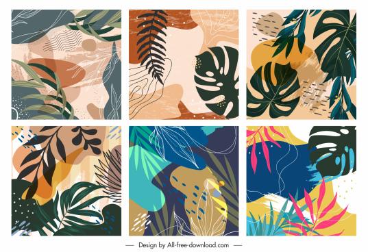 nature background templates elegant classical handdrawn