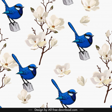nature background white floras perching sparrow decor