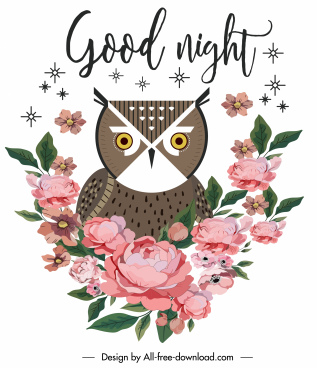 nature card background owl floras decor classic design