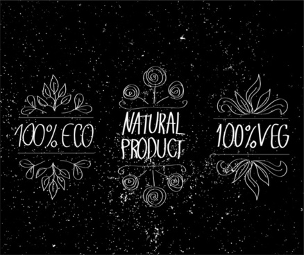 nature eco product label
