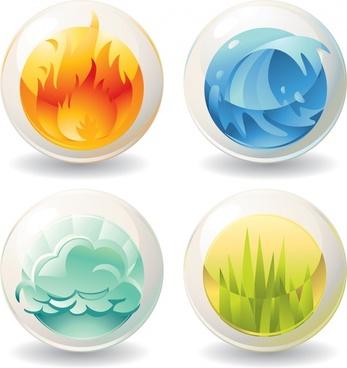 nature sphere templates fire wave cloud grass decor