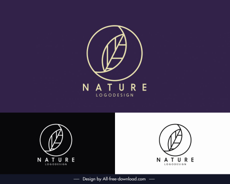 nature logotype flat handdrawn flat leaf sketch