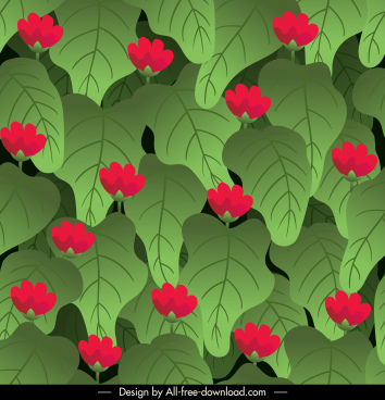 nature pattern luxuriant leaves floral decor