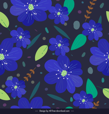 nature pattern petals leaf sketch dark colorful decor