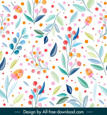 nature pattern template bright colorful handdrawn decor