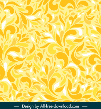 nature pattern template bright yellow abstract decor
