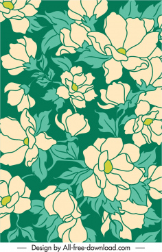nature pattern template floral sketch classic handdrawn
