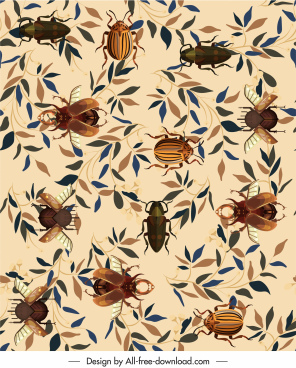 nature pattern template leaf insects species decor