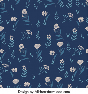 nature pattern template repeating floral decor dark classic