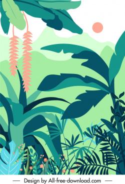 nature scene painting bright classical design