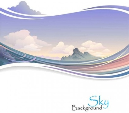 nature sky scenery vector background