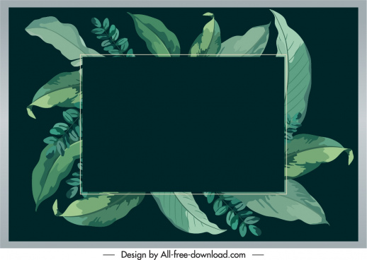 nature text box background green leaves dark retro