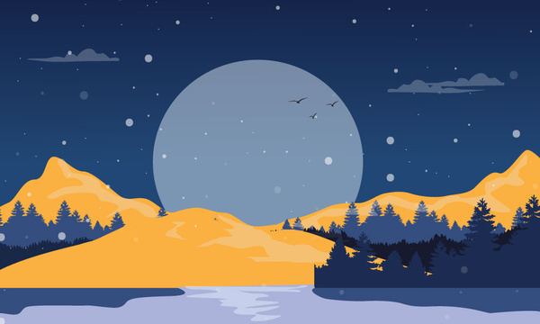 nature vector landscape illustration