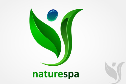 natures spa logo vector
