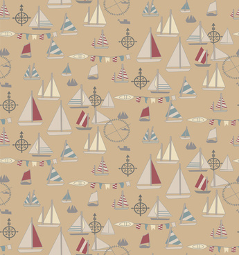 nautical elements seamless pattern vector