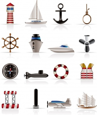 nautical small icon vector