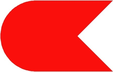 Nautical Symbol Flag Ok Jolle Red clip art