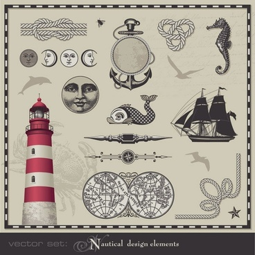 nautical theme graphics vector 2