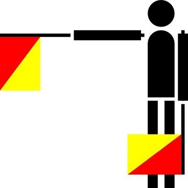 Naval Semaphore Flag B clip art