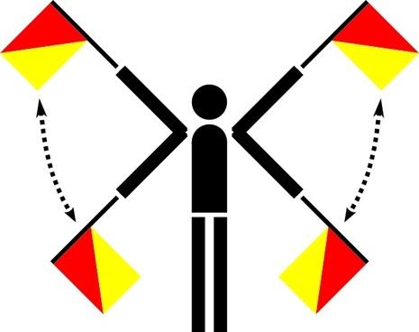 Naval Semaphore Flag Error clip art