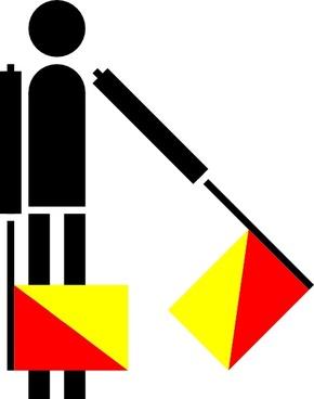 Naval Semaphore Flag G clip art