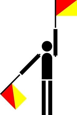 Naval Semaphore Flag K clip art