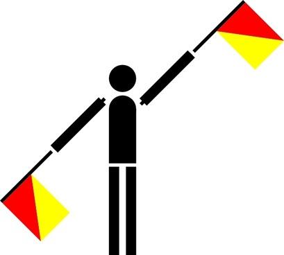 Naval Semaphore Flag L clip art
