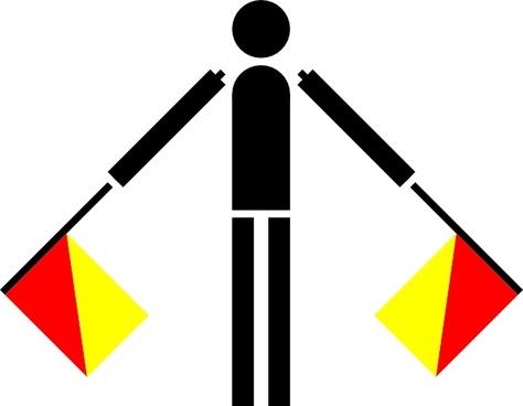 Naval Semaphore Flag N clip art
