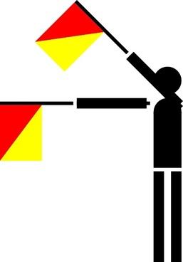 Naval Semaphore Flag O clip art
