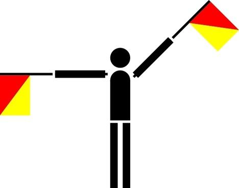 Naval Semaphore Flag Q clip art