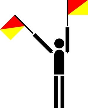Naval Semaphore Flag T clip art