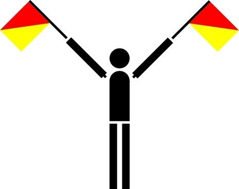 Naval Semaphore Flag U clip art