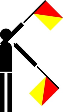 Naval Semaphore Flag X clip art