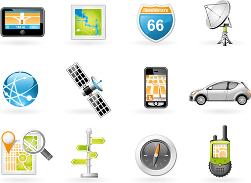 navigation and transport icons