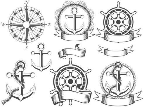 navigation design elements vector labels