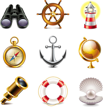 navigation icons elements vector