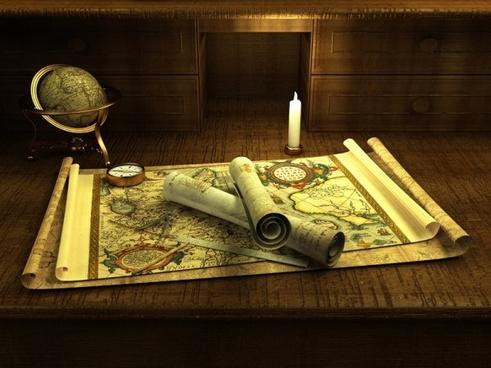 navigation map and compass 02 hd figure goods