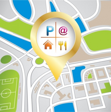 navigation map background shiny oval city layout
