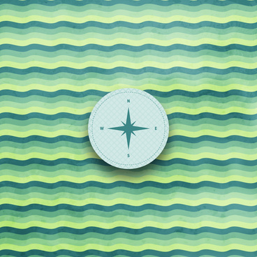 navigator compass on wave background