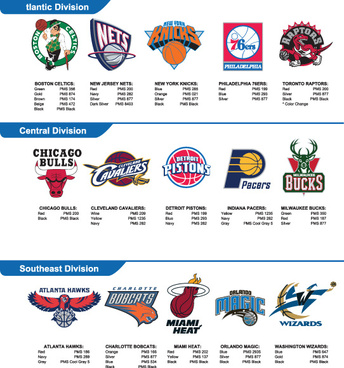 nba team logos vector set